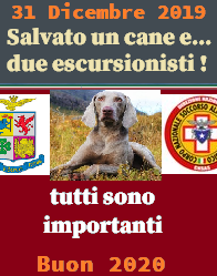 Salvati due escursionisti e un cane